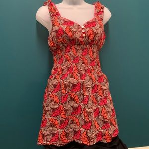 *SWEET* Free People Floral Top/Cami Shirt Poppies